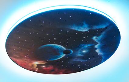 Дизайн натяжного потолка Звездное небо